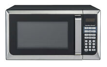 Hamilton Beach 0 9 cu ft  900W Microwave Oven   Stainless Steel