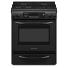 KitchenAid KGSS907SBL 30  Black Slide In Gas Range Self Cleaning NIB  6937 MAD