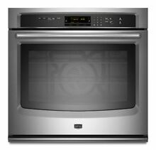 Maytag MEW9527AS 27  Stainless Single Electric Wall Oven NOB  9508 MAD