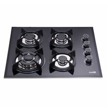 Delikit B 24 4 burners gas cooktop gas hob NG LPG dual fuel sealed glass panel