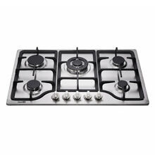Delikit B 30  5 burners gas cooktop  gas hob NG LPG dual fuel sealed S S panel