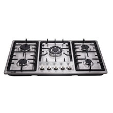 Delikit A 34  5 burners gas cooktop gas hob NG LPG dual fuel sealed S S panel