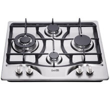 Delikit A 24  4 burners gas cooktop  gas hob NG LPG dual fuel sealed S S panel