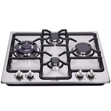 Delikit B 24  4 burners gas cooktop  gas hob NG LPG dual fuel sealed S S panels