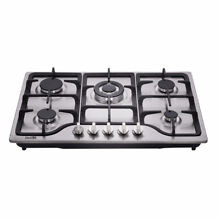 Delikit A 30  5 burners gas cooktop  gas hob NG LPG dual fuel sealed S S panel