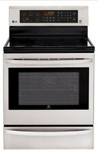 LG LRE3085ST 30  Stainless Freestanding Electric Range NIB MAD