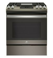 GE JGSS66FELDS 30  Black Slate Slide In Gas Range