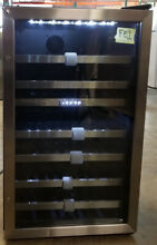 Danby 38 Bottle Dual Zone Freestanding Wine Cooler Black Stainless DWC114BLSDD
