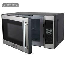 700 Watt Microwave Oven Kitchen Appliance 0 7 cu Ft Stainless Black Black Decker