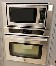 Kenmore Elite 30  Combination Wall Oven with Microwave   Stainless Steel   49613
