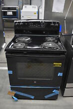 GE JB255DJBB 30  Black Freestanding Electric Range NOB  38688 WLK