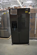 Whirlpool WRS588FIHV 36  Black Stainless Side By Side Refrigerator NOB  40583MAD