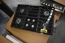 KitchenAid KGCC506RBL 30  Black 4 Burner Gas Cooktop NOB  32336 WLK