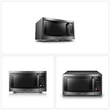 MICROWAVE OVEN 1 5 cu  ft  Stainless Steel Convection LCD Display Midea Blue NEW