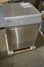 Miele T8005 24  Electric Dryer Gray Stainless Steel Front Load Dryer  9362 NEW