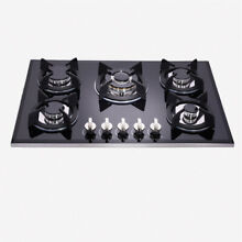 Delikit B 30  5 burners gas cooktop gas hob NG LPG dual fuel sealed glass panel