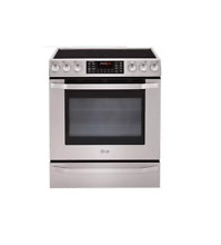 LG LSES302ST 30  Stainless Slide In Electric Convection Range NEW  12611 MAD