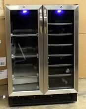 Danby Dual Zone 27 Bottle Built In French Door Beverage Wine Cooler DBC2760BLS
