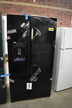 GE GZS22DGJBB 36  Black Side By Side Refrigerator CD NOB  39711 HRT