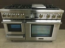 Thermador PRD48JDSGU 48  Dual Fuel Range Pro Grand Steam 6 Burners Griddle