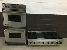 2 pc set  Viking Range Top 48  and Viking 27  Double Wall Oven VEDO276 SSBR