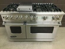 Viking 48  PRO Range Stove VDSC548T6GS Dual Fuel 6 Burners   Griddle Stainless
