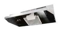 Ductless Under Cabinet Range Hood with Light in Stainless Steel and Easy to Use