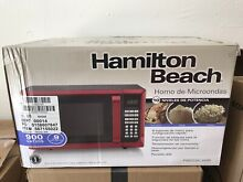Hamilton Beach P90D23AL WRR 0 9 Cu Ft  Microwave  Red Stainless Steel