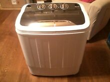 Costway Compact Mini Twin Tub 13lbs Washing Machine Washer Spin Spinner EP23577