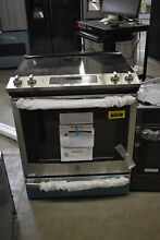 GE JS760SLSS 30  Stainless Slide In Convection Electric Range NOB  41425 HRT