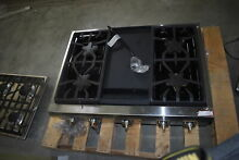 Thermador PCG364GD 36  Stainless Pro Style Gas Rangetop NOB  41351 HRT