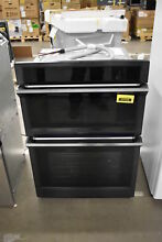 Samsung NQ70M6650DG 30  Black Stainless Combo Wall Oven NOB  37125 HRT