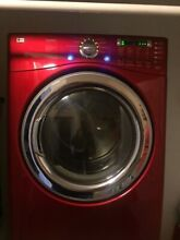 LG Front Load Electric Dryer  Wild Cherry Red Lg Capacity