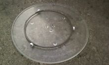 GE Microwave glass turntable plate and roller guide 14 1 2 in WB49X10063
