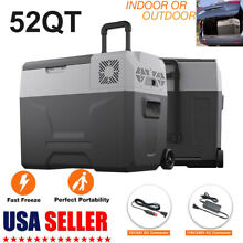 52QT Portable Mini Freezer Compressor Fridges Outdoor Car Cooler Freezer 12 24V
