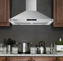 30 inch Wall Mount Range Hood 760 CFM Kitchen Stove Vent Touch Control LED Light