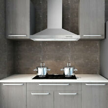 30  Stainless Steel Wall Mount Kitchen Range Hood 500 CFM 3 Speed Control w  LED
