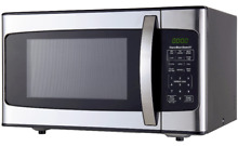 NEW HAMILTON BEACH 1 1CU FT 1000W STAINLESS STEEL MICROWAVE DISTRESSED PACKAGING