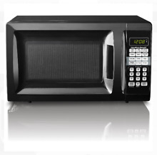 New Modern 0 7 Cu Ft Touch pad Stainless Steel Microwave Oven Red  Black  White