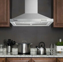 30  Wall Mount Range Hood Stainless Steel 350CFM Kitchen Over Stove Vent w  LEDs