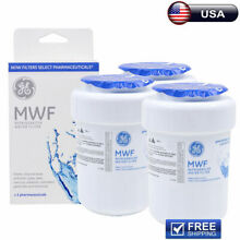3Packs Genuine GE General Electric MWF Replacement Refrigerator Water Filter
