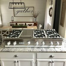 Watch Testing on YouTube   48  Viking  Rangetop W  Griddle Cooktop Pro  White