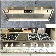 Viking  2 Piece 48  Cooking Package Cooktop Rangetop W  Vent Hood See on YouTube