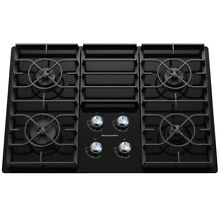 KitchenAid KGCC506RBL 30  Black 4 Burner Gas On Glass Cooktop NOB  44400 HRT