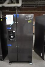 Whirlpool WRS321SDHV 33  Black Stainless Side By Side Refrigerator NOB  44644