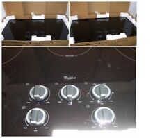 Whirlpool 36  5 Element Radiant Electric Cooktop with Warming Zone Element