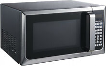 Microwave Oven  0 9 Cu Ft  Hamilton Beach 900w Stainless Steel Countertop