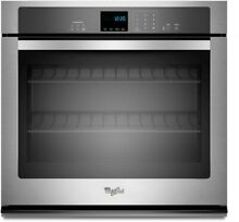 Whirlpool WOS51EC0AS 30  Stainless Single Electric Wall Oven NOB  35778 HRT