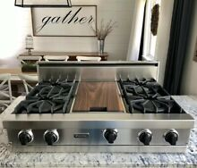 Watch Testing On YouTube  36  Viking  Rangetop Cooktop W  Griddle  Natural Gas