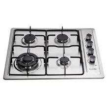 Delikit 1B 24  4 burners gas cooktop gas hob NG LPG dual fuel sealed S S panel